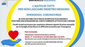 Donazioni per emergenza Coronavirus