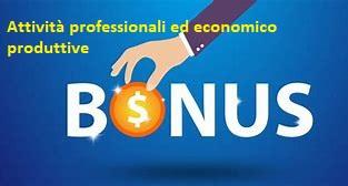 AVVISO EROGAZIONE BONUS Attività professionali ed economico produttive