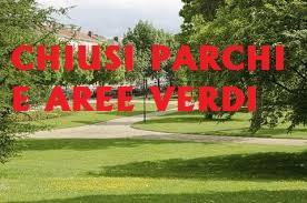 Chiusura Parchi Aree verdi giardini pubblici