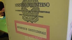 REFERENDUM COSTITUZIONALE CONFERMATIVO DEL 29 MARZO 2020
